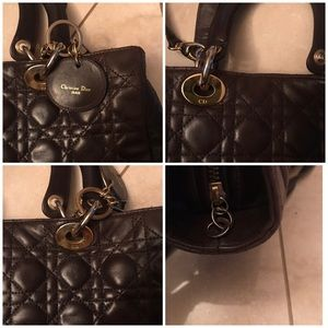 Dior Bags - Lady Dior Brown lambskin bag